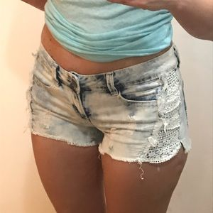 Vanilla Star Jean Shorts size 5 low cut